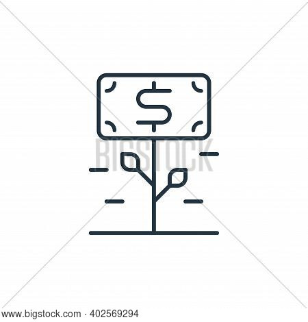 money growth icon isolated on white background. money growth icon thin line outline linear money gro