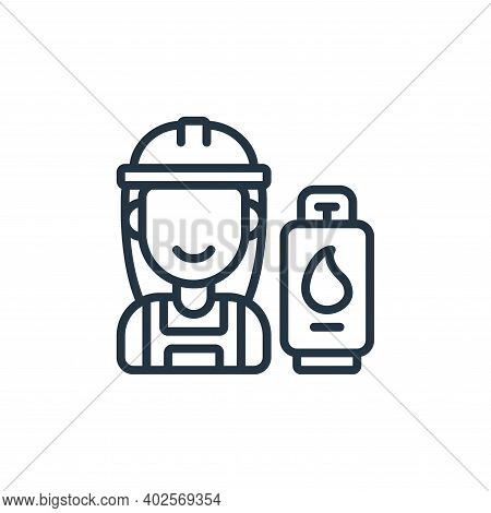 engineer icon isolated on white background. engineer icon thin line outline linear engineer symbol f