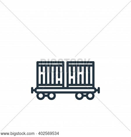 train icon isolated on white background. train icon thin line outline linear train symbol for logo,
