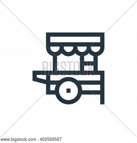 food cart icon isolated on white background. food cart icon thin line outline linear food cart symbo