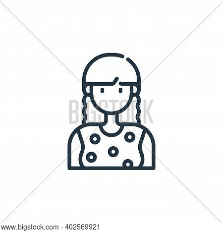 woman icon isolated on white background. woman icon thin line outline linear woman symbol for logo,