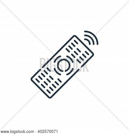 remote icon isolated on white background. remote icon thin line outline linear remote symbol for log