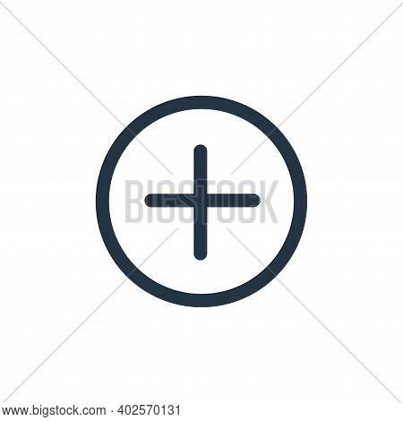 plus icon isolated on white background. plus icon thin line outline linear plus symbol for logo, web
