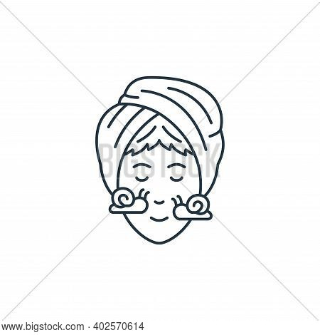 face treatment icon isolated on white background. face treatment icon thin line outline linear face