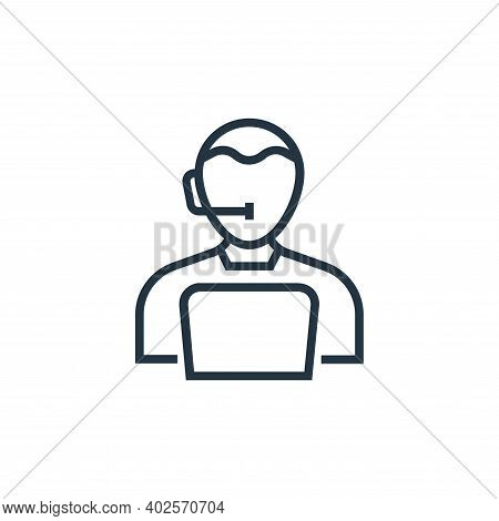 call center agent icon isolated on white background. call center agent icon thin line outline linear