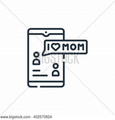 text message icon isolated on white background. text message icon thin line outline linear text mess