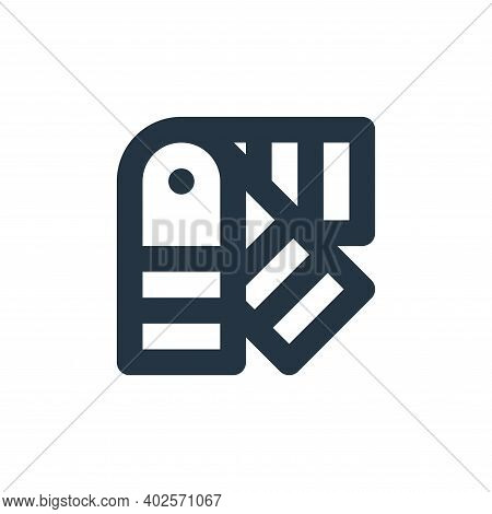 palletes icon isolated on white background. palletes icon thin line outline linear palletes symbol f