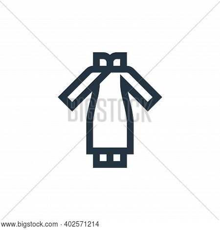 chinese dress icon isolated on white background. chinese dress icon thin line outline linear chinese