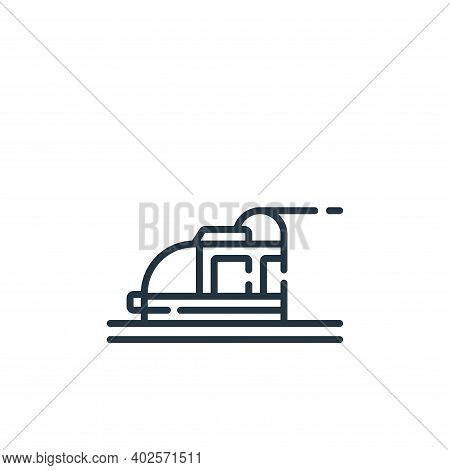 subway icon isolated on white background. subway icon thin line outline linear subway symbol for log