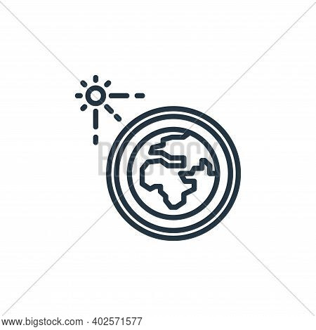 solar system icon isolated on white background. solar system icon thin line outline linear solar sys