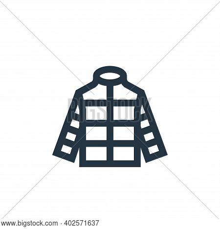 jacket icon isolated on white background. jacket icon thin line outline linear jacket symbol for log