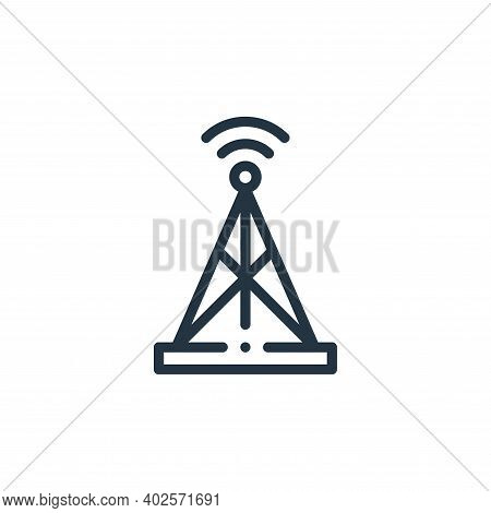 antenna icon isolated on white background. antenna icon thin line outline linear antenna symbol for