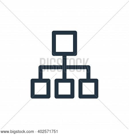hierarchical structure icon isolated on white background. hierarchical structure icon thin line outl