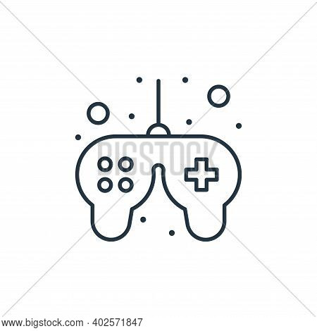 game controller icon isolated on white background. game controller icon thin line outline linear gam