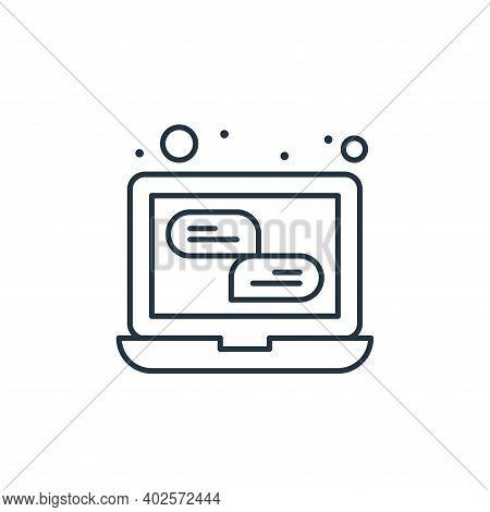 communication icon isolated on white background. communication icon thin line outline linear communi