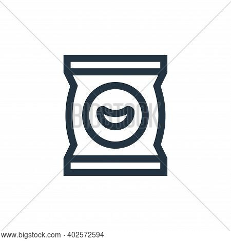 chips icon isolated on white background. chips icon thin line outline linear chips symbol for logo,