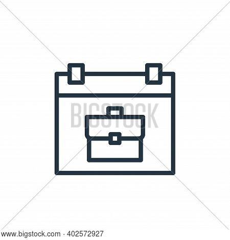 schedule icon isolated on white background. schedule icon thin line outline linear schedule symbol f