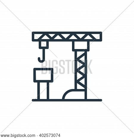 crane icon isolated on white background. crane icon thin line outline linear crane symbol for logo,