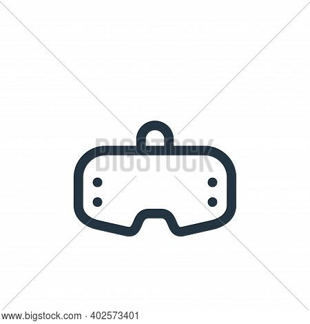 vr glasses icon isolated on white background. vr glasses icon thin line outline linear vr glasses sy