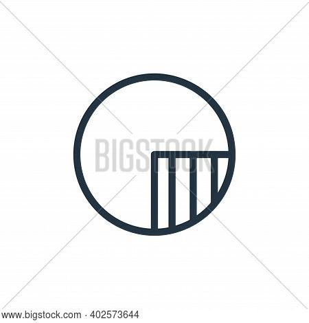 circle icon isolated on white background. circle icon thin line outline linear circle symbol for log