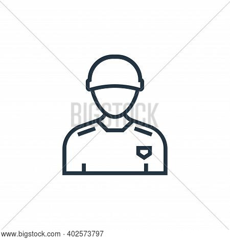 courier icon isolated on white background. courier icon thin line outline linear courier symbol for
