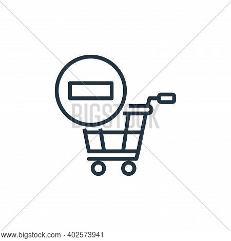remove from cart icon isolated on white background from cart vector icon isolated on white collectio