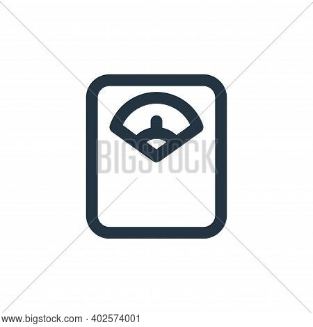 weight scale icon isolated on white background. weight scale icon thin line outline linear weight sc