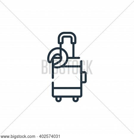 luggage icon isolated on white background. luggage icon thin line outline linear luggage symbol for
