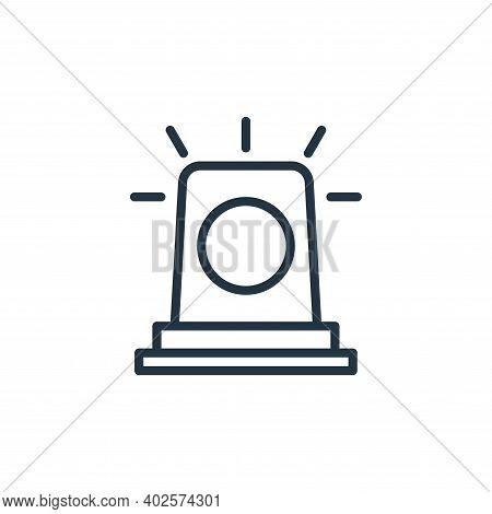 Siren icon isolated on white background. Siren icon thin line outline linear Siren symbol for logo,