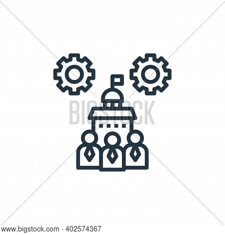 government icon isolated on white background. government icon thin line outline linear government sy