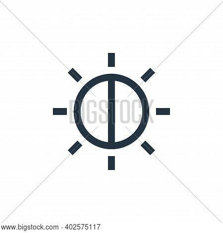 brightness icon isolated on white background. brightness icon thin line outline linear brightness sy