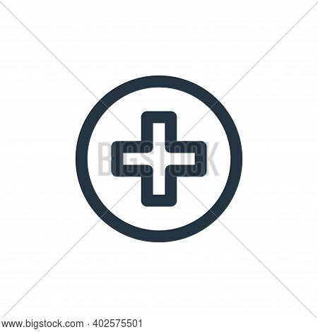 health icon isolated on white background. health icon thin line outline linear health symbol for log
