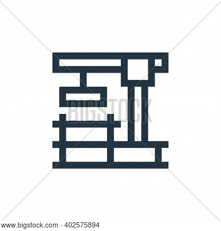 construction icon isolated on white background. construction icon thin line outline linear construct