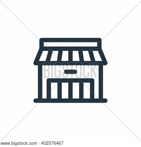 store icon isolated on white background. store icon thin line outline linear store symbol for logo,
