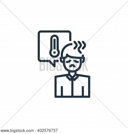 fever icon isolated on white background. fever icon thin line outline linear fever symbol for logo,