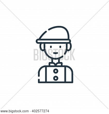 man icon isolated on white background. man icon thin line outline linear man symbol for logo, web, a