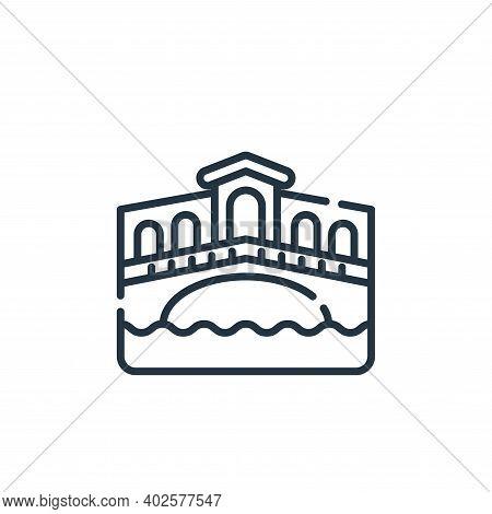 rialto bridge icon isolated on white background. rialto bridge icon thin line outline linear rialto