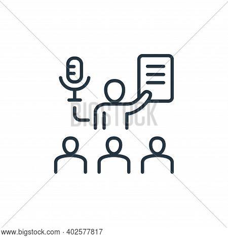 coaching icon isolated on white background. coaching icon thin line outline linear coaching symbol f