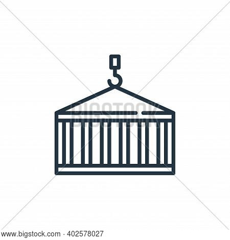container icon isolated on white background. container icon thin line outline linear container symbo