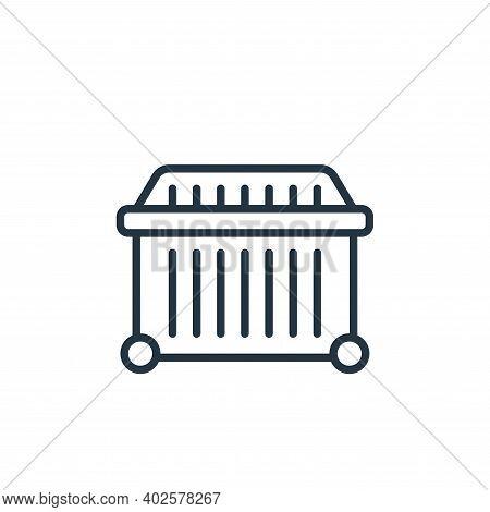 trash bin icon isolated on white background. trash bin icon thin line outline linear trash bin symbo