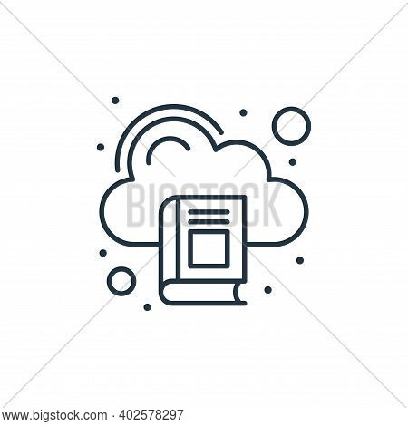 cloud library icon isolated on white background. cloud library icon thin line outline linear cloud l