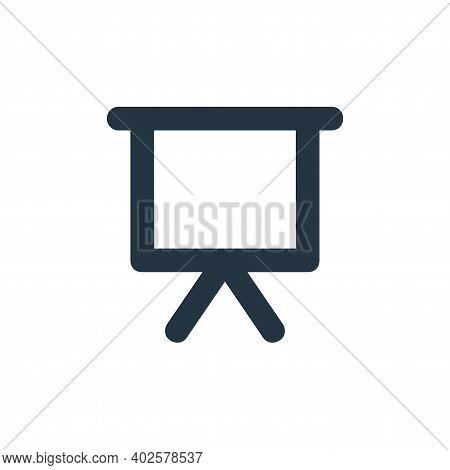 whiteboard icon isolated on white background. whiteboard icon thin line outline linear whiteboard sy