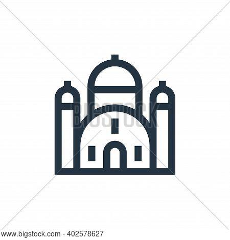 synagogue icon isolated on white background. synagogue icon thin line outline linear synagogue symbo