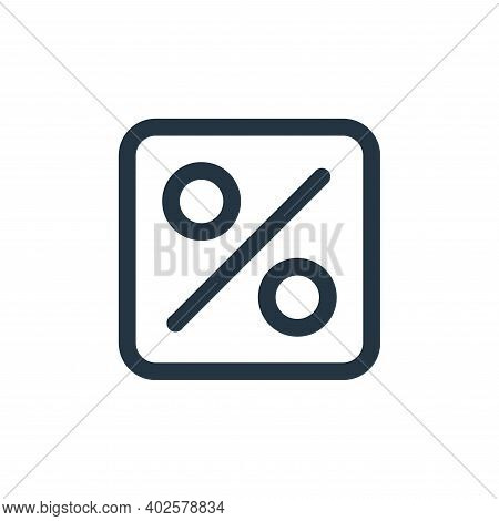 percent icon isolated on white background. percent icon thin line outline linear percent symbol for
