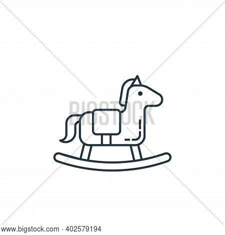 rocking horse icon isolated on white background. rocking horse icon thin line outline linear rocking