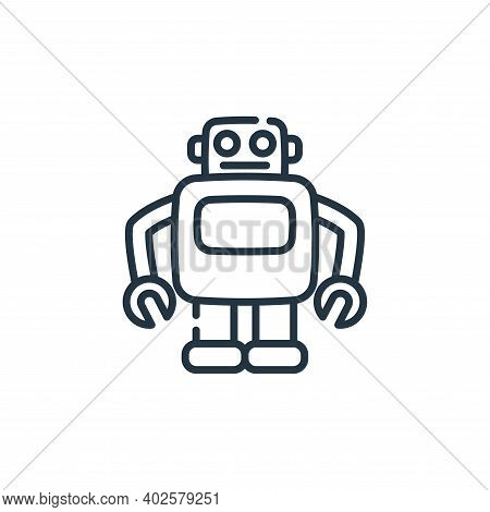 robot icon isolated on white background. robot icon thin line outline linear robot symbol for logo,