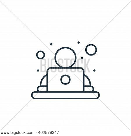 office worker icon isolated on white background. office worker icon thin line outline linear office