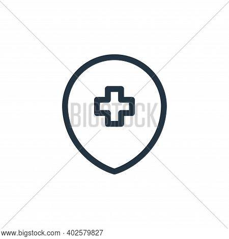 hospital sign icon isolated on white background. hospital sign icon thin line outline linear hospita