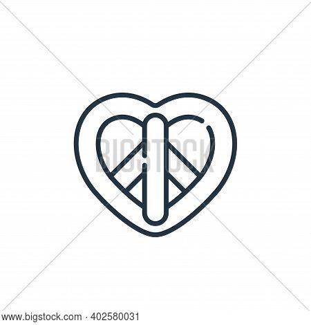 peace symbol icon isolated on white background. peace symbol icon thin line outline linear peace sym