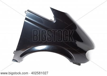Black Plastic Fender On A White Isolated Background In A Photo Studio For Sale Or Replacement In A C